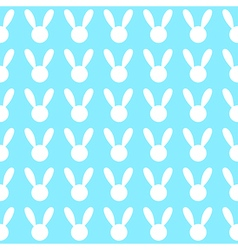 White Rabbit Blue Background vector image
