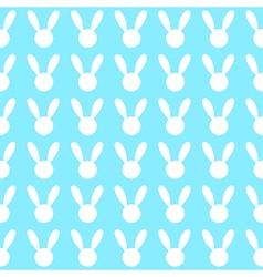 White Rabbit Blue Background vector image vector image