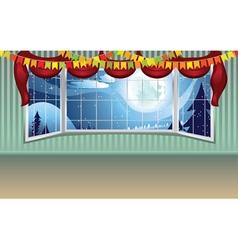 Wide Window Interior vector image