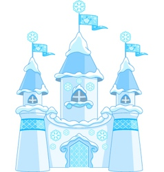 winter castle vector image