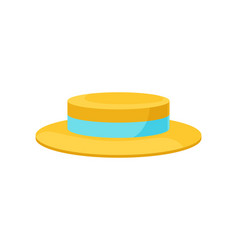 yellow hat for men on white vector image