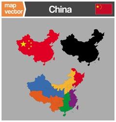china maps vector image vector image
