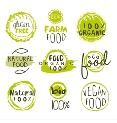 Eco Food Lables Set vector image vector image