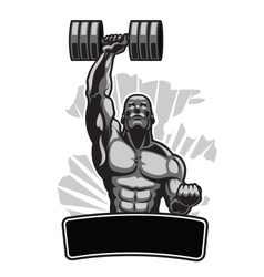 Body Builder with Barbell vector image
