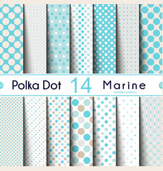 fourteen different round shape polka dot on the vector image