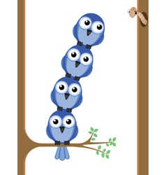 bird teamwork vector image