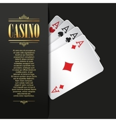 Casino background Poker vector image vector image