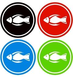 colorful fish icon vector image