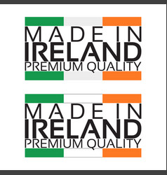 made in ireland icon premium quality sticker vector image vector image