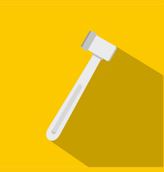 Medical hammer icon flat style vector