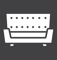 sofa solid icon furniture and interior vector image vector image