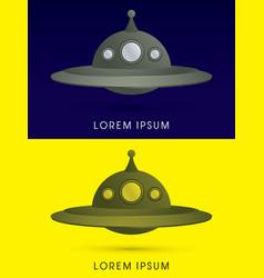 ufo alien spaceship flying vector image vector image