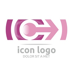 Icon arrow letter c design symbol vector