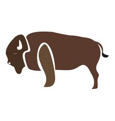 Isolated abstract buffalo vector