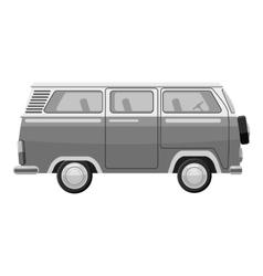 Mini bus icon gray monochrome style vector image