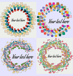 set of abstract round form vector image vector image