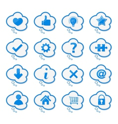 Speech bubbles with icons vector image