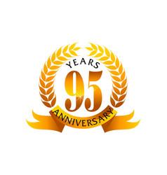 95 years ribbon anniversary vector