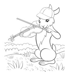 a children coloring bookpage a cute playing vector image