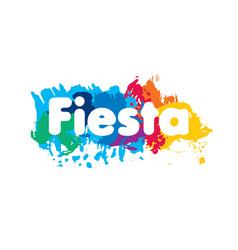 abstract logo for fiesta vector image