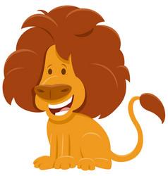 african lion cartoon wild animal character vector image