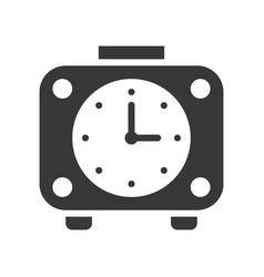 alarm clock icon pixel perfect design vector image