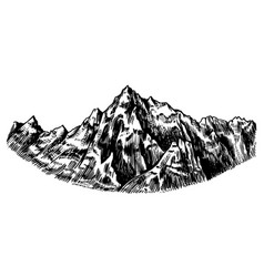 alps mountains chamonix-mont-blanc peaks vintage vector image