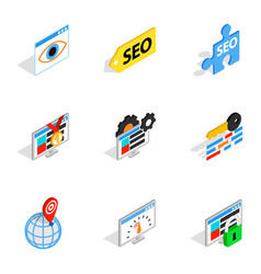 Analytics search information icons vector