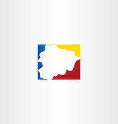 Andorra map logo icon symbol vector