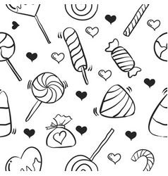Art of candy sweet doodle style vector