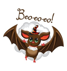 Bat halloween hat on a white background vector image