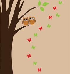Bird owl vector