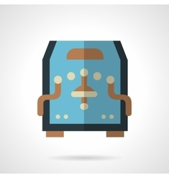 Blue coffee machine flat color icon vector image
