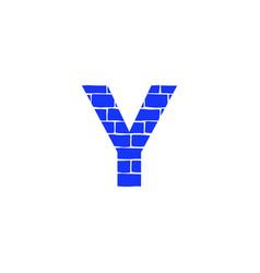 Brick logo letter y vector