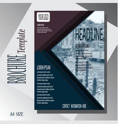 Brochure template cover design vector