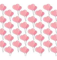 Buckets balloons heart seamless pattern design vector