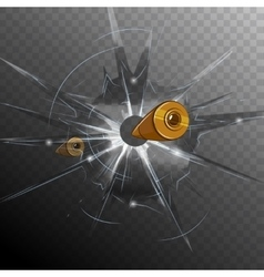 Bullet Broken Glass Concept vector