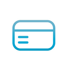 card user interface blue gradient vector image