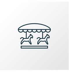 carousel icon line symbol premium quality vector image