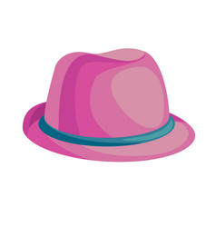 Cartoon pink hat vector