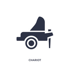 Chariot icon on white background simple element vector