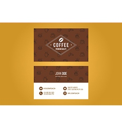 Coffee House Business Card Design vector image
