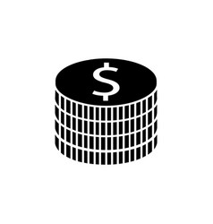 coins solid icon finance and business vector image