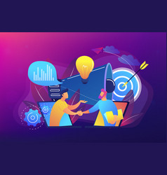collaboration concept vector image