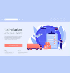 Customs clearance concept landing page vector