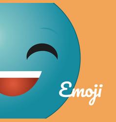 cute round emoji cartoon vector image