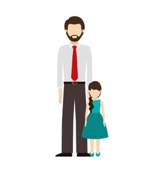 Dad and daughter design vector