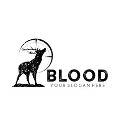 deer hunter logo design template vector image