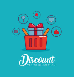 Discount design with vector