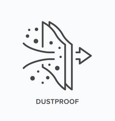 dustproof flat line icon outline vector image